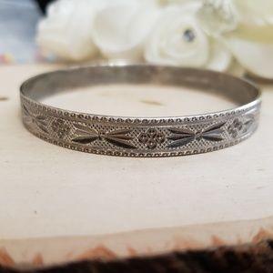 925 Sterling Silver Vintage Bangle Bracelet